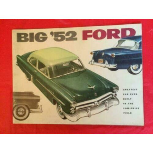 1952 Ford Prestige Brochure USA