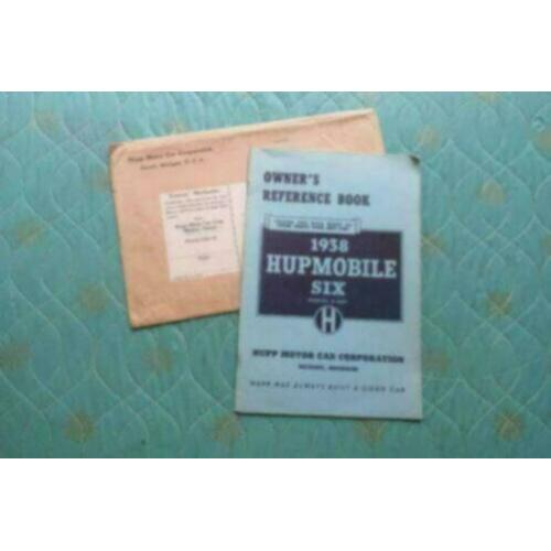 1938 Hupmobile Six Owners Manual USA