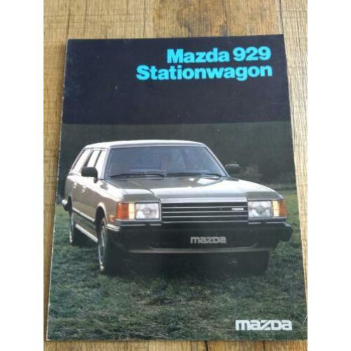 Mazda 929 stationwagon folder uit 1982