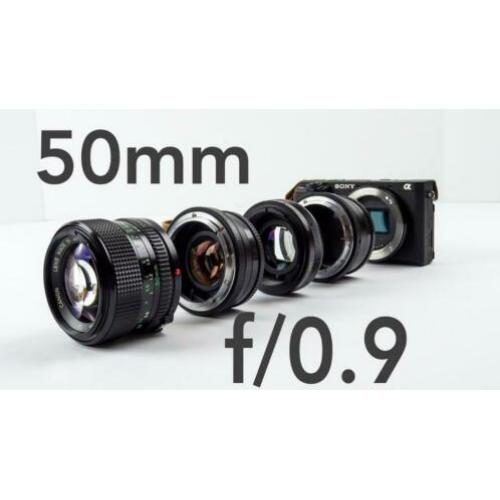 Canon 50mm USM f1.4 + speed Booster EF adabter Sony E Mount
