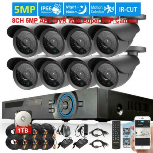 Complete prof. set 8x 5Mp camera + 8Ch DVR +1Tb HDisk 3
