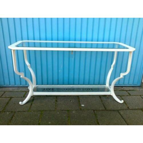 Leuke Side-tabele, 2 glasplaten