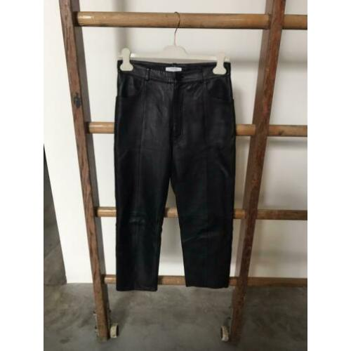 & Other stories leather broek 38
